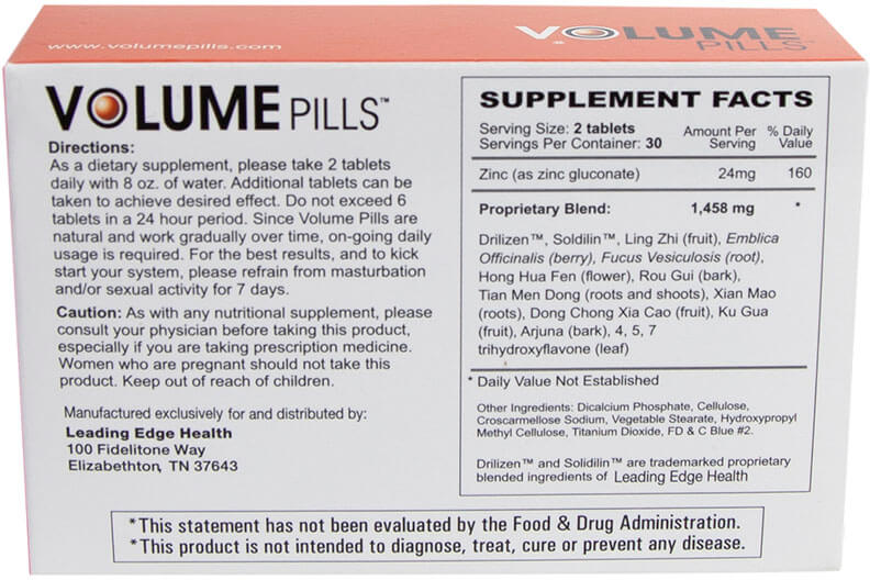 Image result for volume pills ingredients
