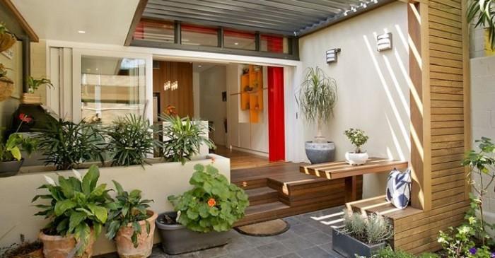 desain toko kecil depan rumah