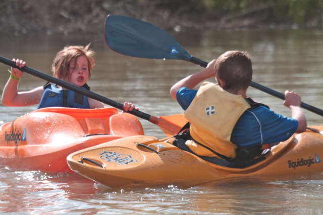 Kids adventure kayaking