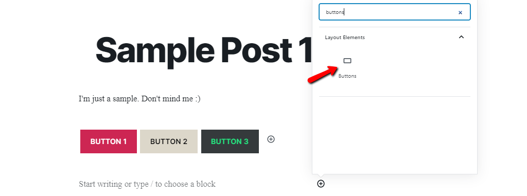 New Buttons Block in WordPress 5.4