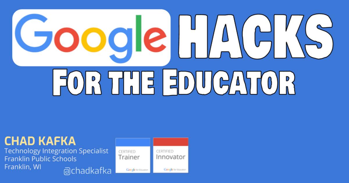 Google Hacks For the Educator