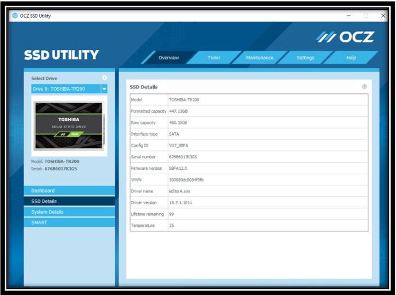 OCZ SSD Utility image