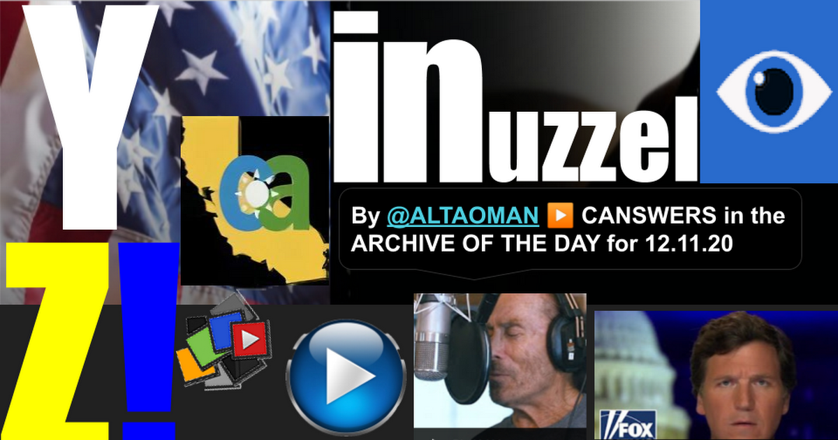 YZ! 11December20 INuzzel recap of AmzXng Clips