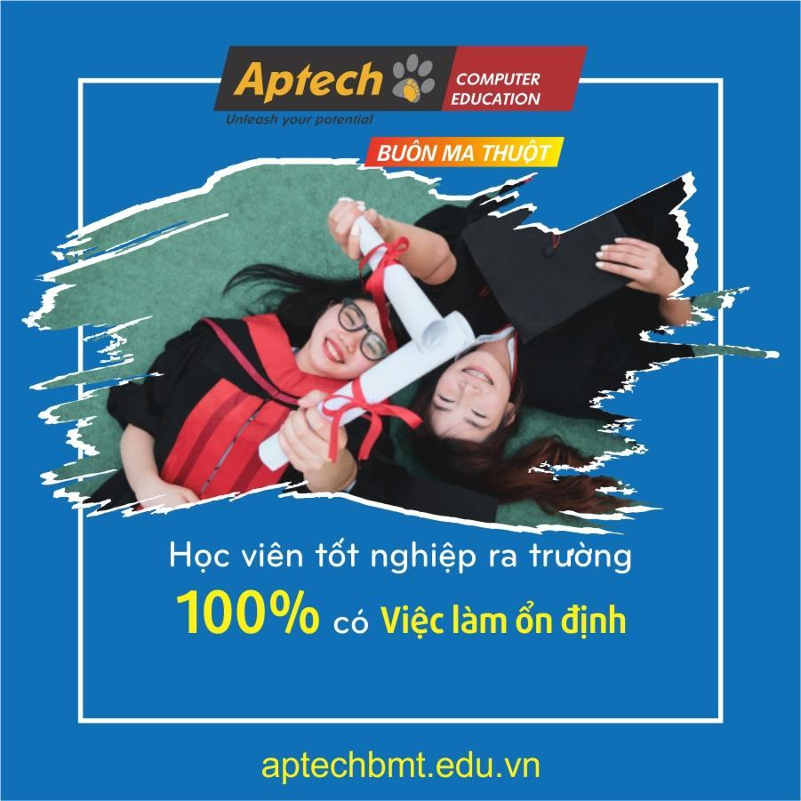 100% học viên Aptech tốt nghiệp có việc làm