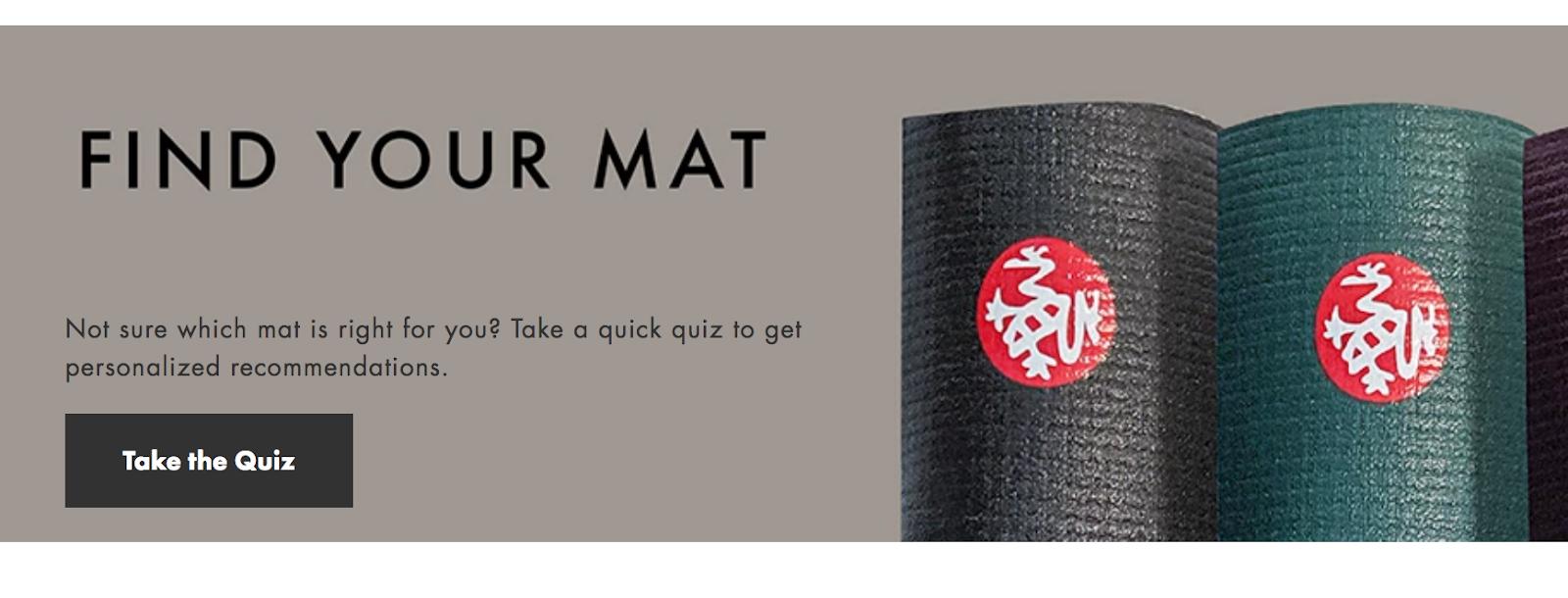 Find Your Perfect Mat: Manduka Quiz