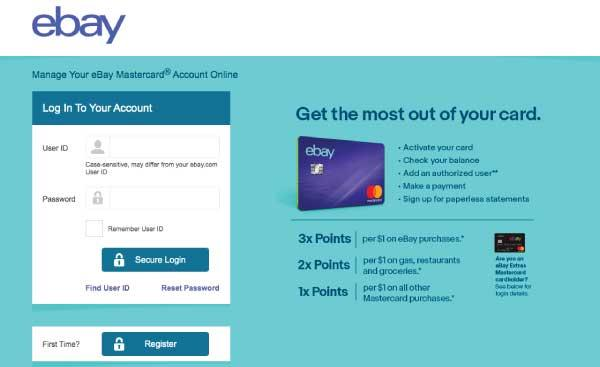 ebaymastercard.syf.com/login eBay Mastercard Login Guide
