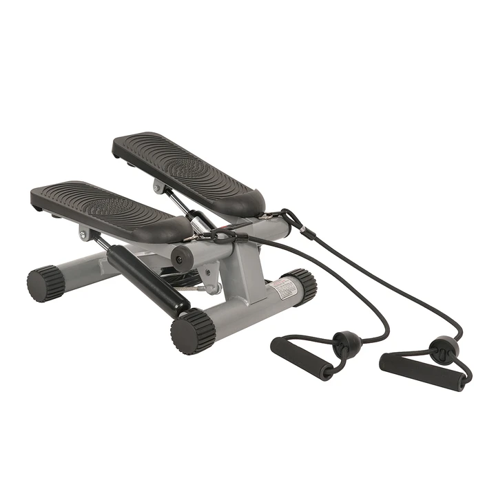 Sunny Health & Fitness Mini Stepper with Resistance Bands for low-impact aerobic exercise that can help you target 20 different core muscles