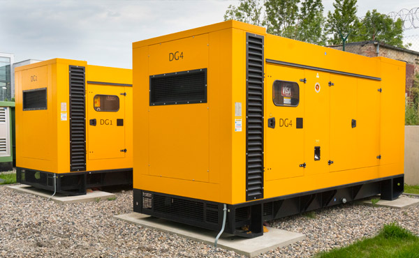 2 out of 3 diesel generators at the ServerPark data center