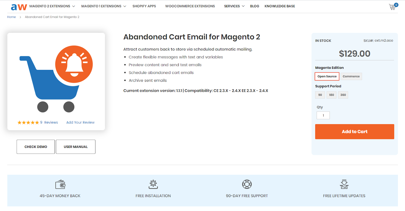 magento plugins - Aheadworks Abandoned Cart Email