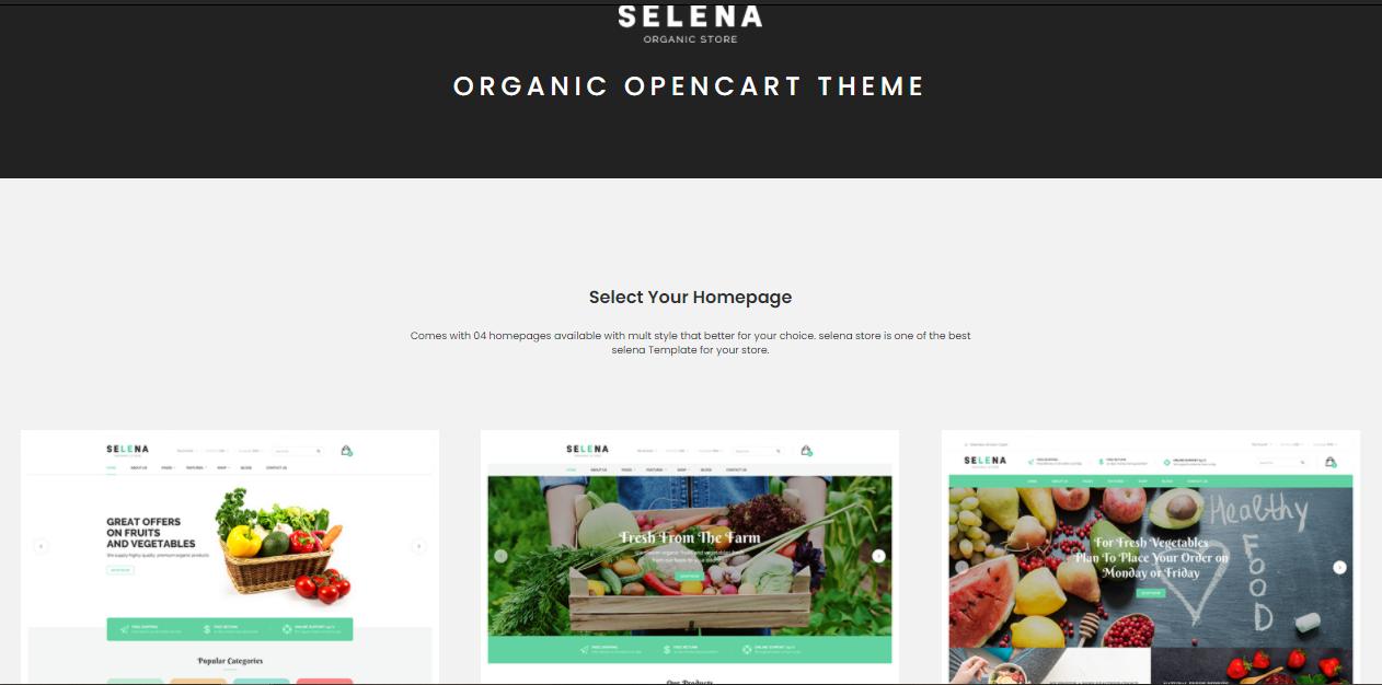 Selea- organic Magento themes