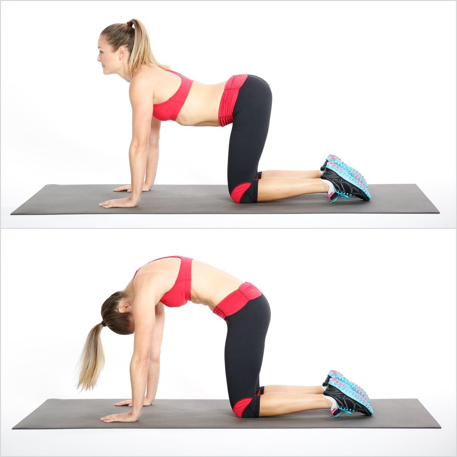 Relieve Back Pain With Cat Cow Stretch | POPSUGAR Fitness