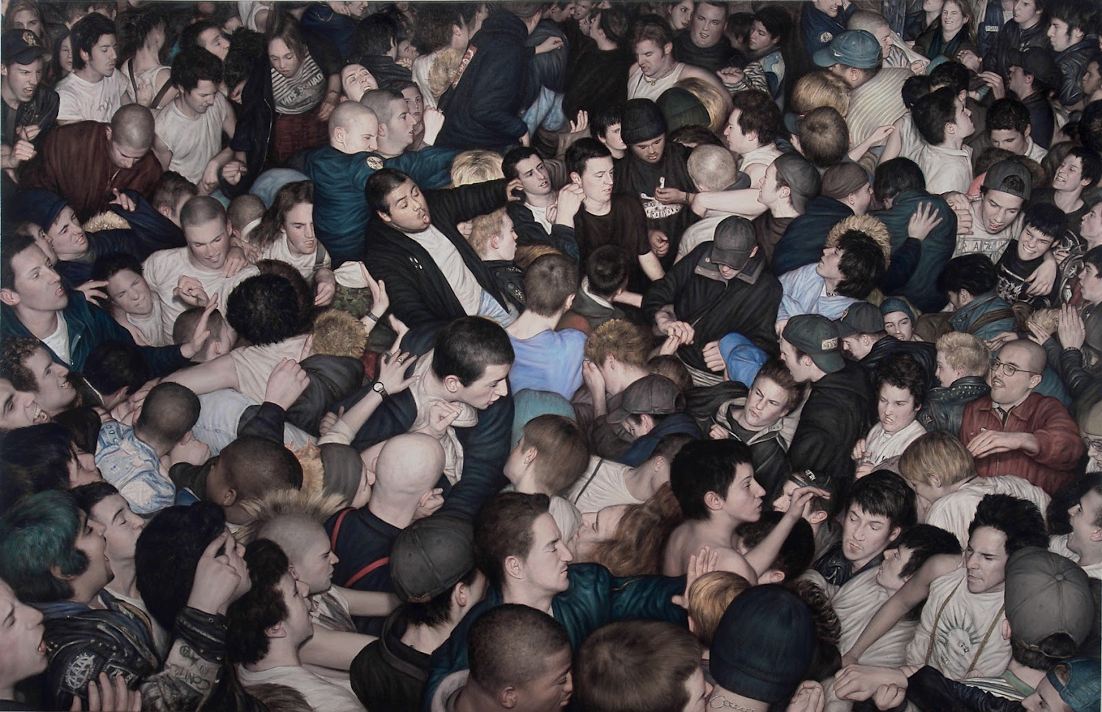 Big Mosh Pit - Dan Witz (2007), oil on canvas