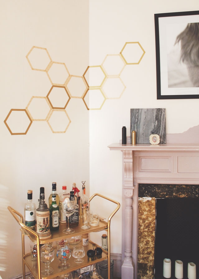 DIY Your Wall With Honeycomb Decals