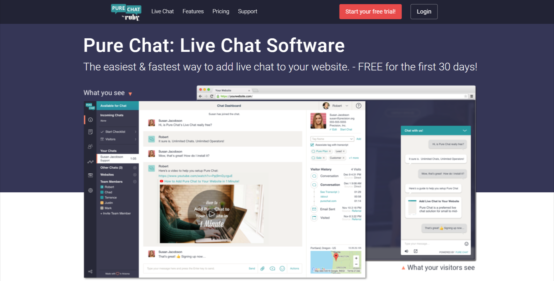pure chat-online chat software