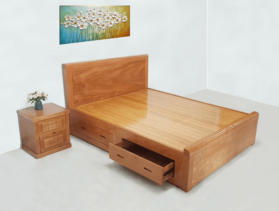 Giường ngủ gỗ sồi – Sự lựa chọn hàng đầu của cặp đôi Việt