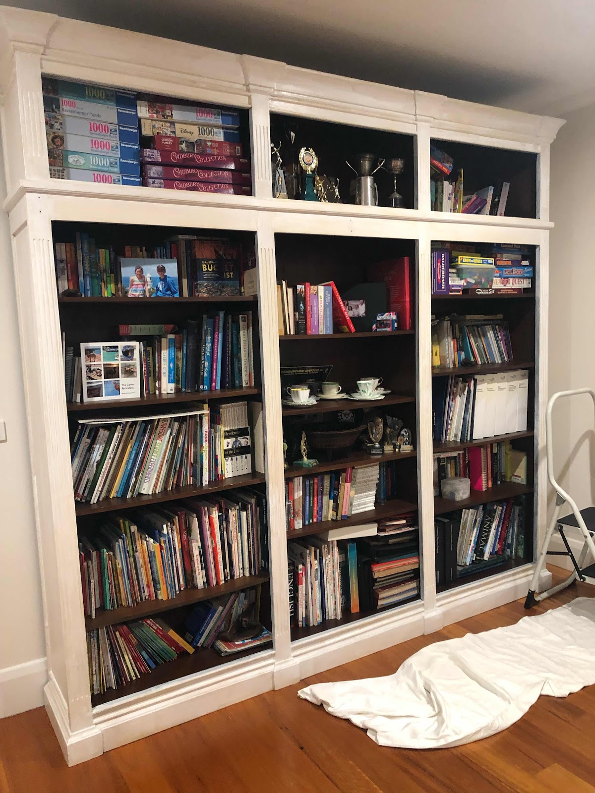 white painted bookcase Lilyfield Life chalk paint
