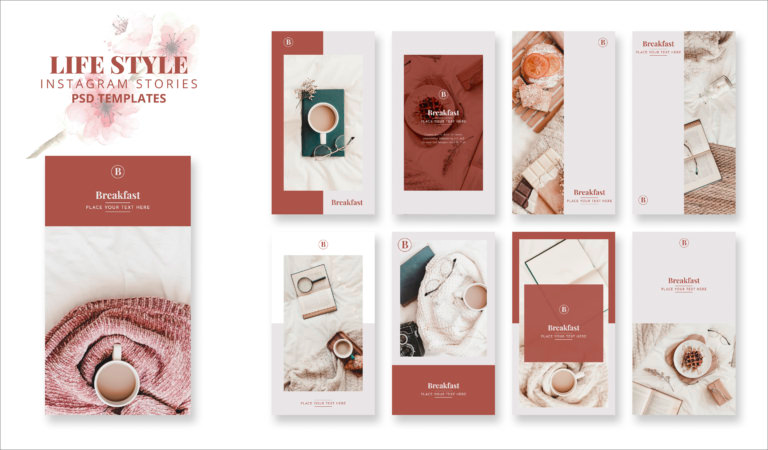 Lifestyle Instagram PSD Story Templates