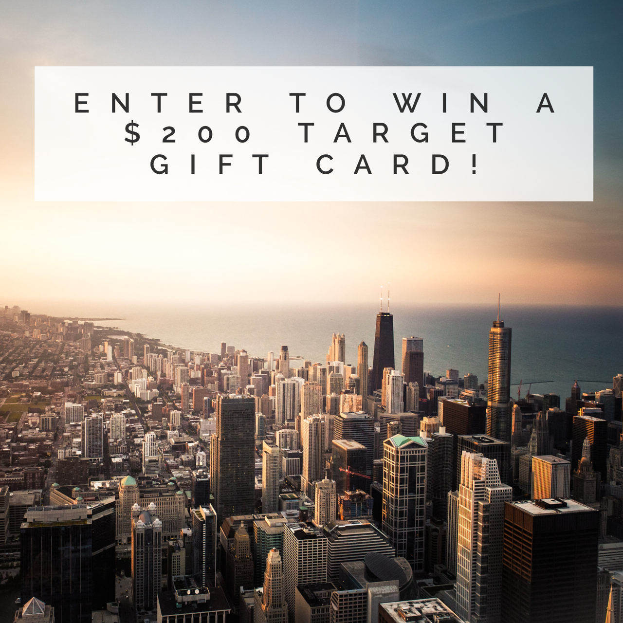 target gift card giveaway, chicago skyline, sears tower sky deck, willis tower, natalie craig, natalie in the city, blogger giveaway