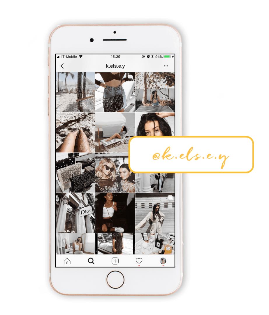 white minimalist instagram theme