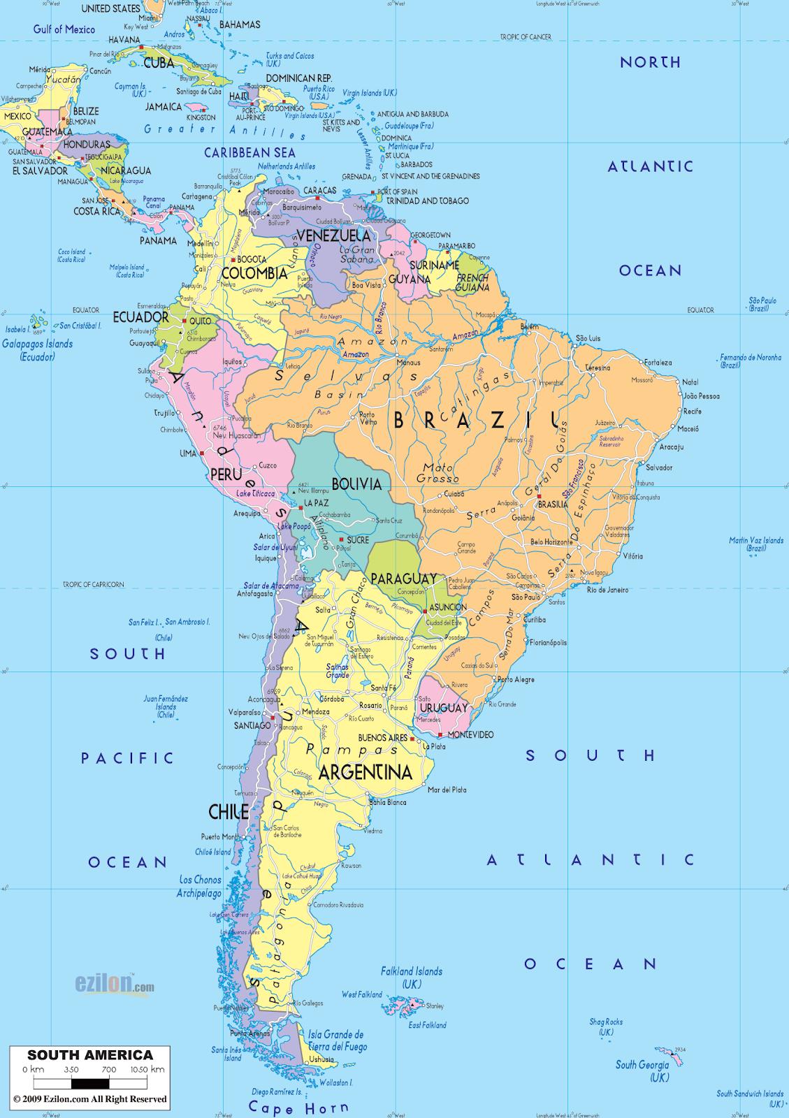 दक्षिण अमेरिका महाद्वीप