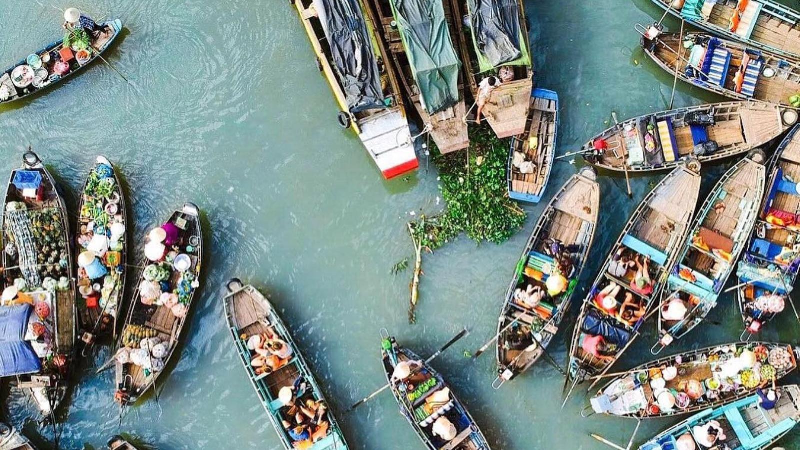 Chợ nổi Cái Bè tỉnh Tiền Giang