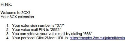 Esempio di URL personalizzato di Click2Meet