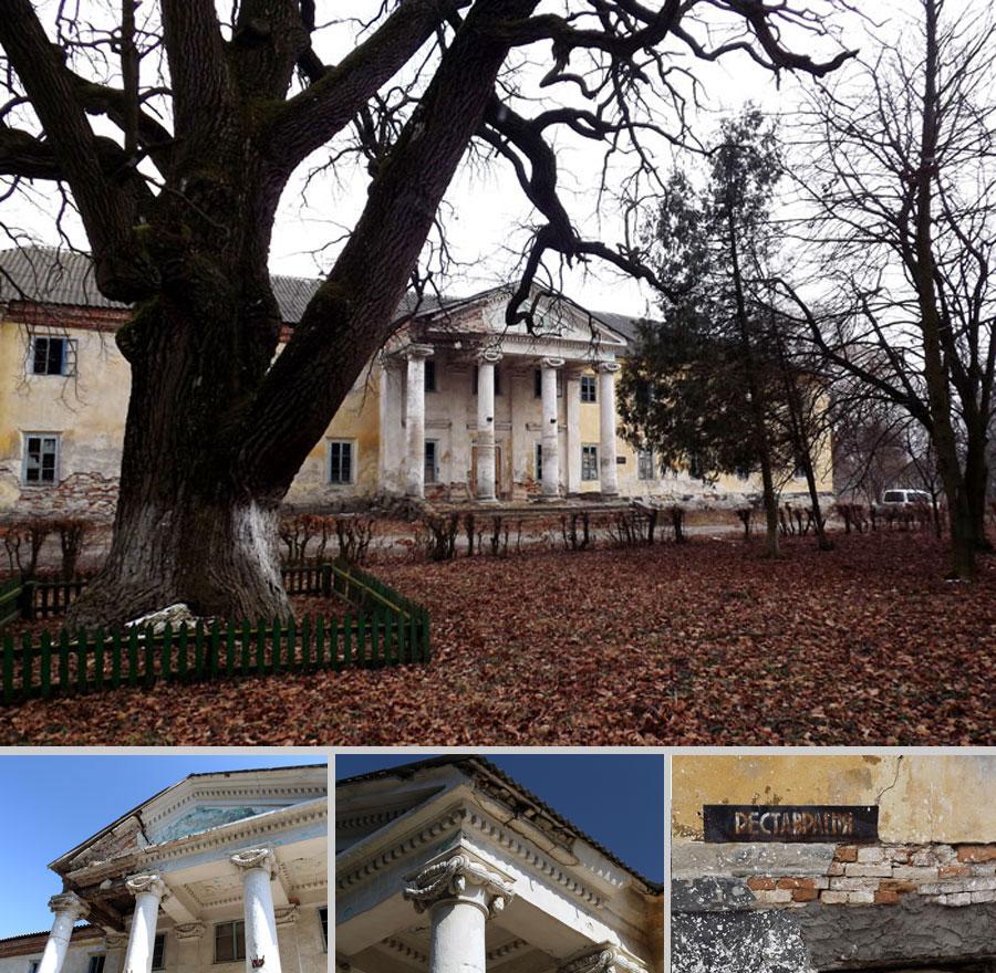 Заброшенный дворец в селе Лесоводы и трехсотлетний дуб