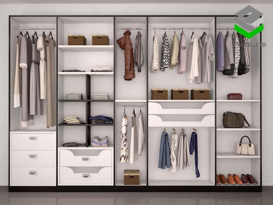 Một chiếc tủ quần áo sẽ làm căn phòng bạn trở nên ngăn nắp, gọn gàng hơn