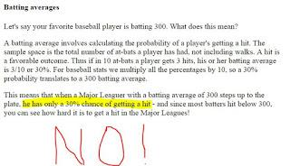Why A .300 Hitter Does NOT Have a 30% of Getting a Hit This AB