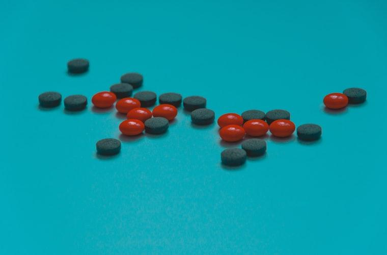 Red and blue tablets