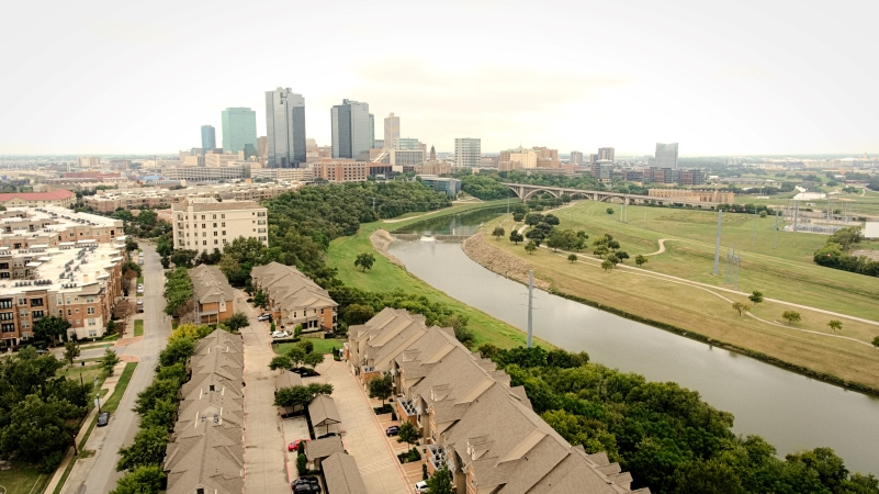 Downtown Fort Worth, TX and the Trinity River