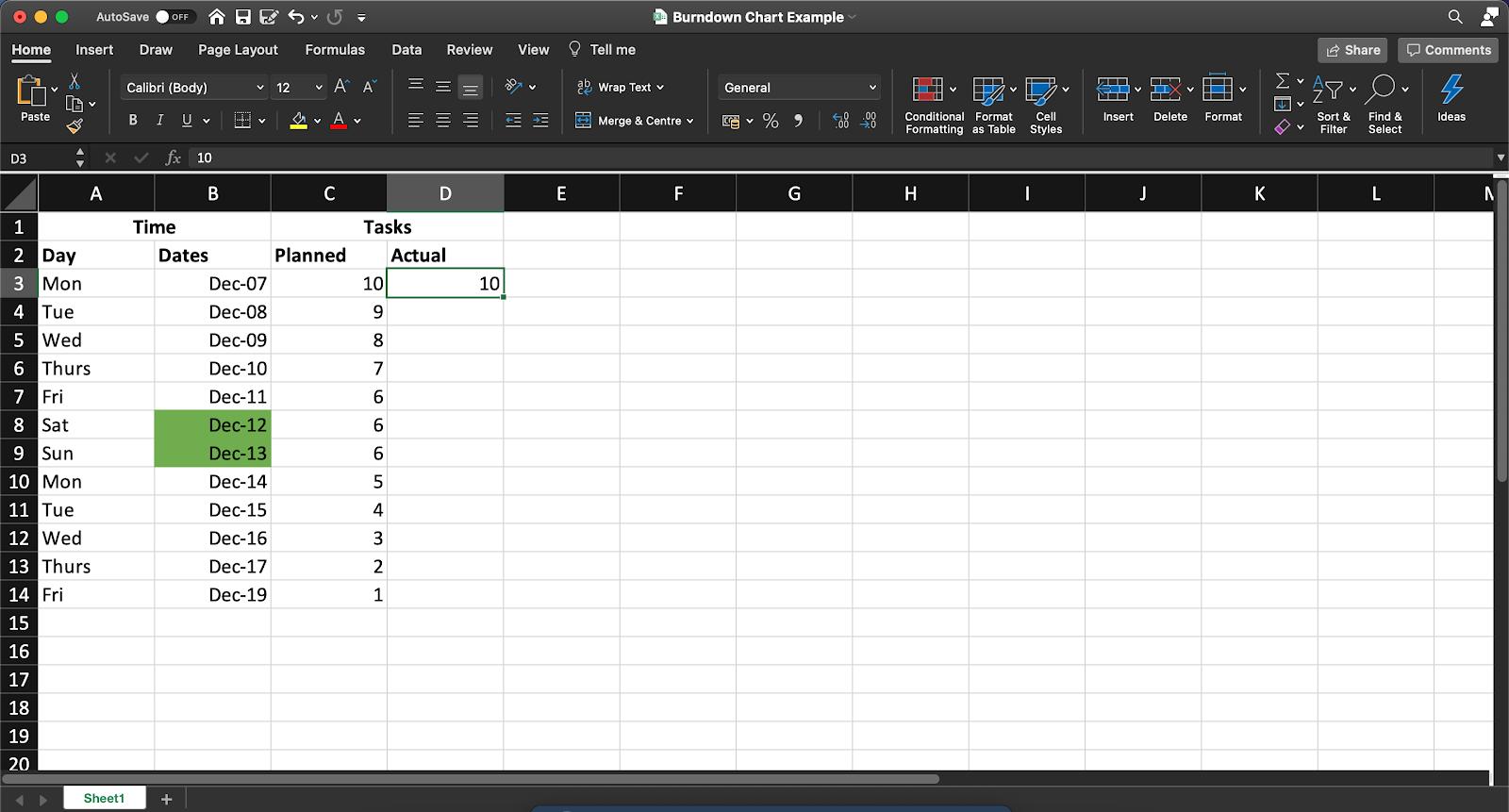 adding data excel