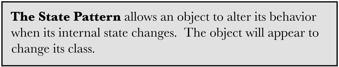 Định nghĩa State Pattern
