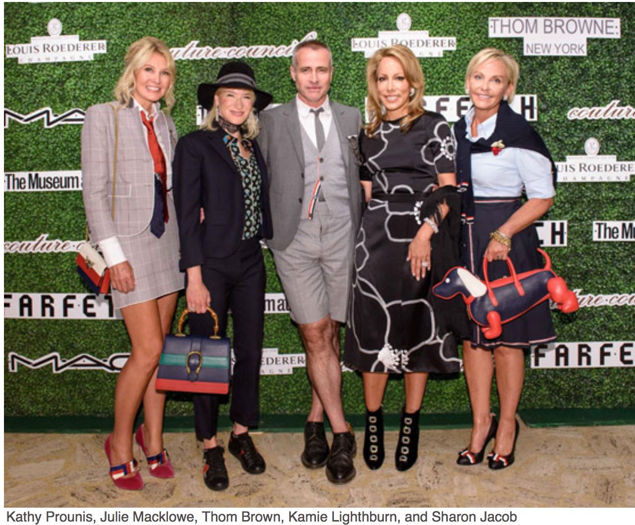 New York Fashion Week The kick-off to this week-long revelry of style and commerce is The Couture Council Luncheon and Award for the Artistry of Fashion. Kathy Prounis, Julie Macklowe, Thom Brown,Kami3e Lightburn, Sharon Jacob
