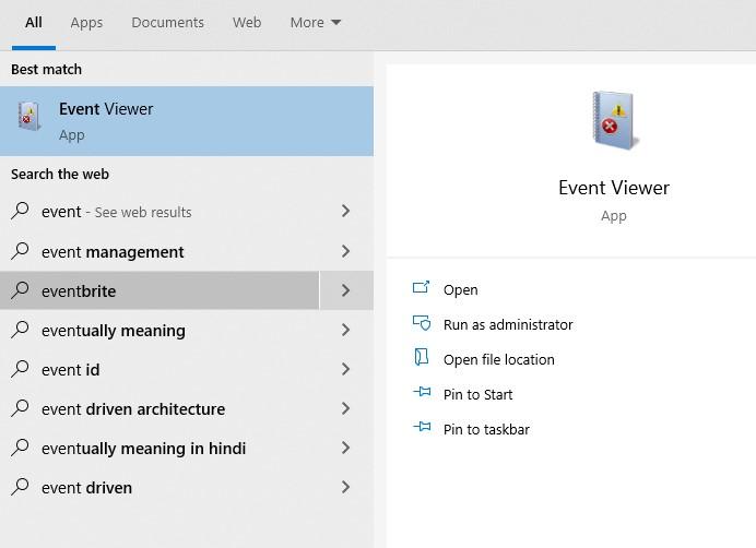 Windows Event Viewer