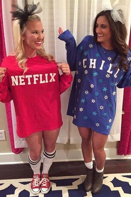 this costume is so popular this year and you can find endless youtube videos on how to recreate it now just choose whos more netflix and whos more
