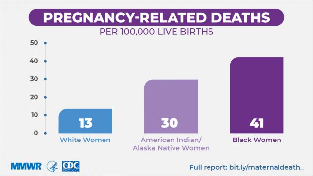Pregnancy related deaths infographic