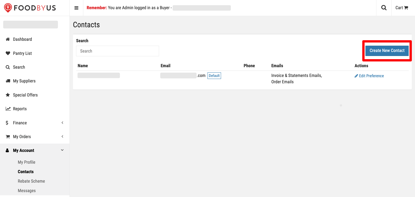 FoodByUs_dashboard_my_account_contacts_create_new_contact