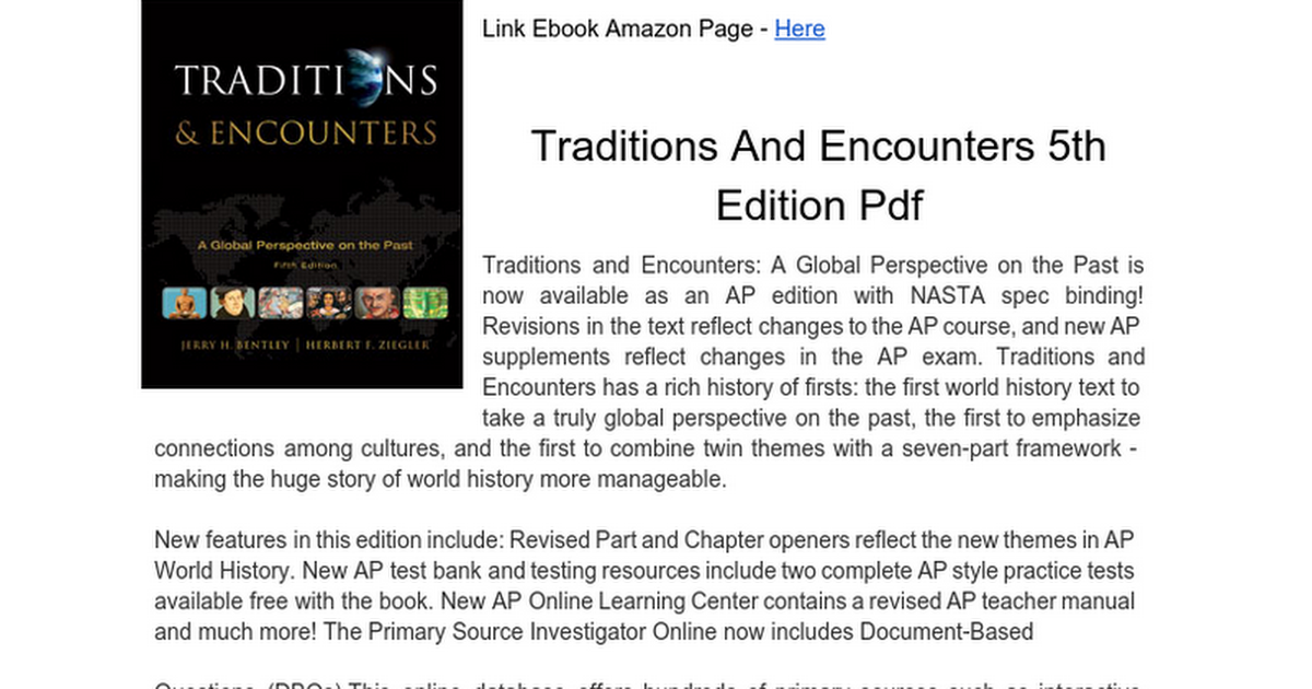 Traditions and encounters 5th edition pdf google docs fandeluxe Gallery
