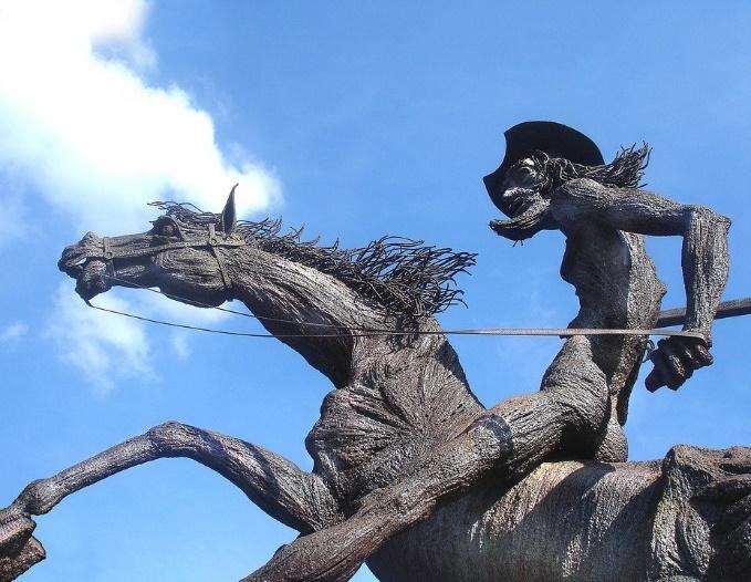 Don Quixote Statue, Sky, Cuba