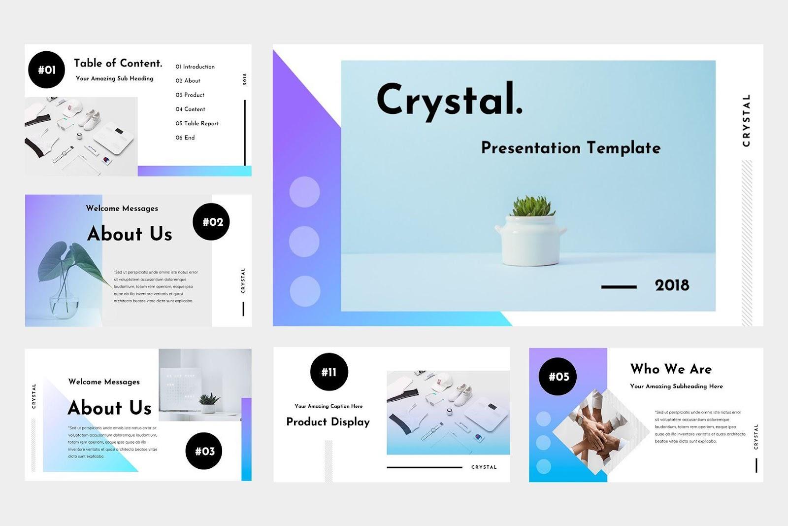 Crystal Keynote Presentation | Presentation design template ...