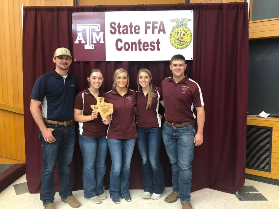 Meats judging team at State