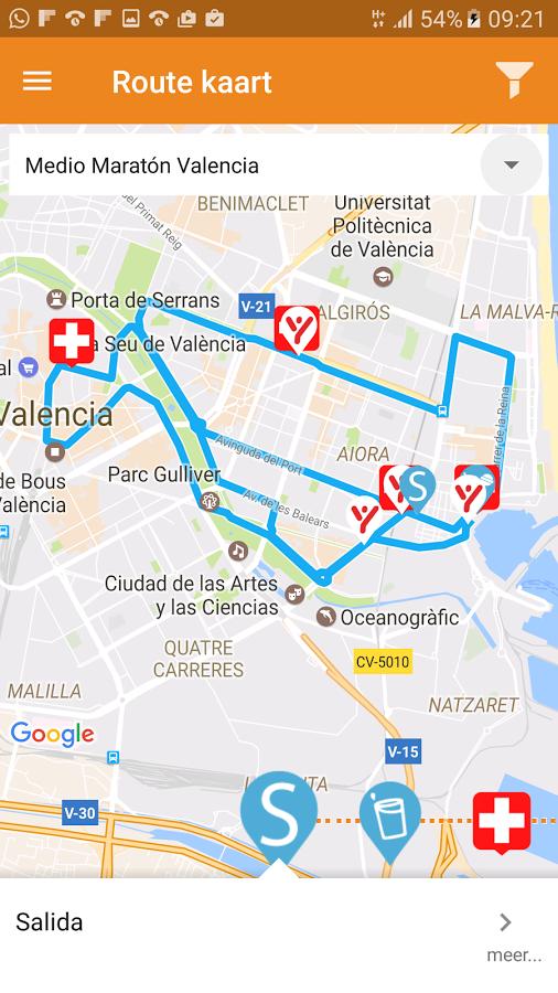 Medio Maratón Valencia: captura de pantalla