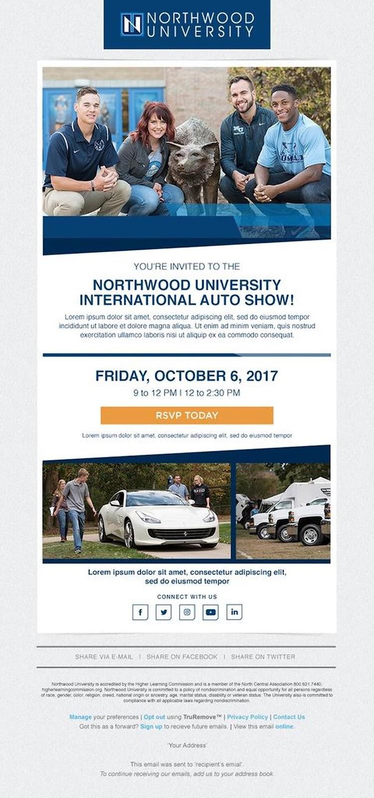 Northwood University email example