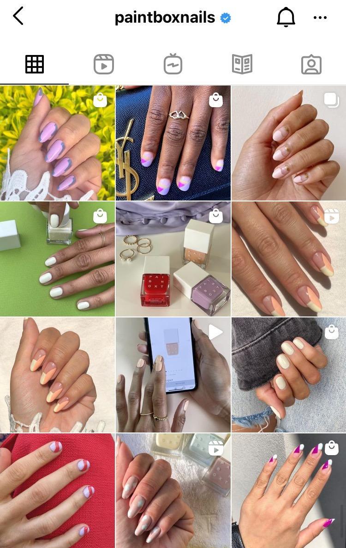 paintboxnails instagram grid