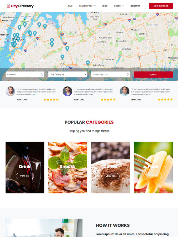 google maps directory search homepage