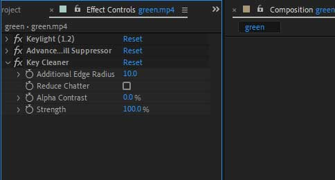 Key Cleaner effect in After Effects