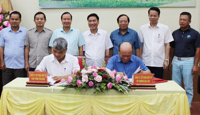 Ký kết thỏa thuận hợp tác sân golf Yên Bình