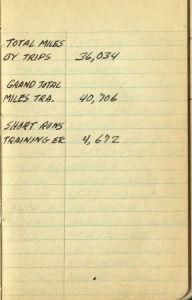 USS Barnstable totals in log book