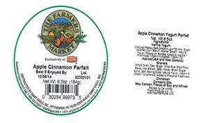 Label, The Farmers Market Apple Cinnamon Parfait, 6.5 oz